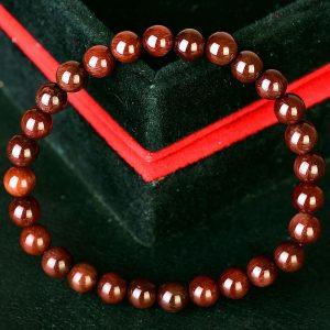 Vòng Đá Thạch Anh Tóc Nâu Đỏ (Vip 8A) Thiên Nhiên