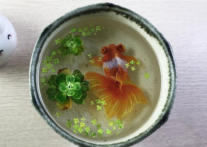 Bài 4 : Hướng dẫn từng bước vẽ tranh cá vàng 3d trong epoxy resin ...